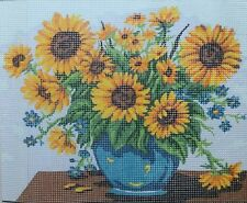 Sunflowers Canvas Grafitec Needlepoint  Tapisserie Cross Stitch Serigraphy