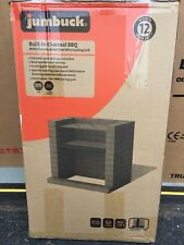 DIY Brick Charcoal BBQ Barbecue  Cooking Grill Kit Built In
