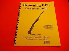 TAKEDOWN MANUALGUIDE BROWNING BPS PUMP SHOTGUN, clear detailed instructions