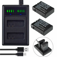 LED Charger +2x Battery For Nikon EN-EL14 |D3100 D3200 D3300 D3400 D5100 | 90339