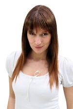 Perruque Femmes brun Mélange Marron Long lisse PONY mèches 50 cm la032-2t30