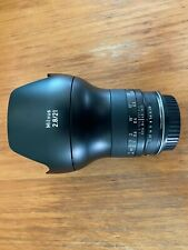 Zeiss 21mm Milvus ZF2 (Orig. Nikon mount, with Duclos conversion to Canon mount)