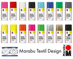 Marabu Textile Spray Paint Textil Design Fabric Spray Paint Clothes (16 Colours)