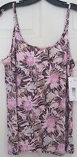 NEW NWT Jockey JKY Nylon Stretch Floral Camisole Size Medium