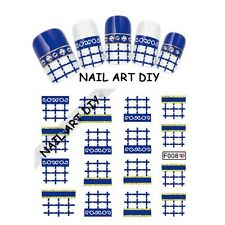 Nail Art WATER Transfer Stickers-Decals-Tattoo Adesivi con Glitter-Manicure !!!