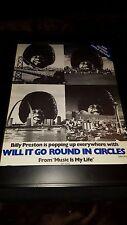 Billy Preston Will It Go Round In Circles Rare Original Promo Poster Ad Framed!
