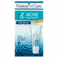 Nature s Cure Two Part Acne Treatment System for Males 1 Month Supply