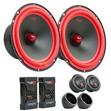 "6.5"" 2 Way Component Speaker System 1"" Dome Tweeters Pair Cerwin Vega V465C"
