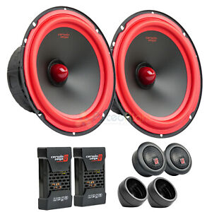 "6.5"" 2 Way Component Speaker System 1"" Dome Tweeters Pair Cerwin Vega V465C"