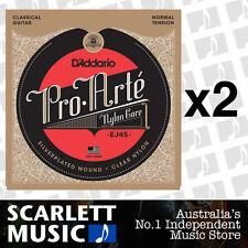 2x D'Addario EJ-45 Pro Arte Nylon Classical Strings Daddario *SET OF 2 PACKS*