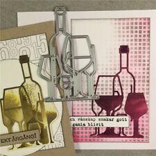 Wine Bottle Metal Cutting Dies Scrapbooking Embossing Paper Cards Making Craft