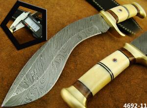 CUSTOM HANDMADE DAMASCUS STEEL KUKRI KNIFE HUNTING KNIFE (4692-11