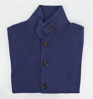 NWT BRUNELLO CUCINELLI Purple Cotton Thick Knit Cardigan Sweater 48/38/S $1095