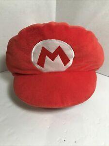 """Banpresto Nintendo Super Mario Bros. MARIO FULL SIZE PLUSH HAT 16"""" Long"""