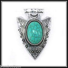 #JRJ106 TURQUOISE necklace INDIAN ARROWHEAD ARROW HEAD AZTEC pendant SCARF CHARM