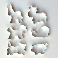 Ausstecher Ausstechform 6er Set Katze, Schwein, Kuh, Esel, Pferd, Schnecke
