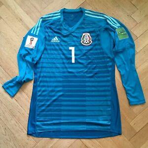 Mexico Goalkeeper Football shirt Player Issue Large Adidas Jesus Corona