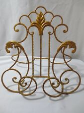 "Vtg Large 17""  Ornate Metal Table Top Photo Art Display Stand Easel Wall Hanging"