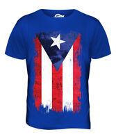 PUERTO RICO GRUNGE FLAG MENS T-SHIRT TEE TOP PUERTO RICAN SHIRT FOOTBALL GIFT