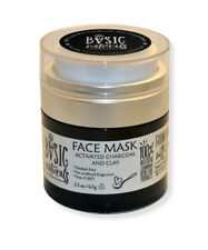 FACE MASK – ACTIVATED CHARCOAL WITH CLAY 2 oz with charcoal from organic coconut