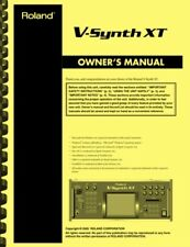 Roland V-Synth XT Synthesizer 3-in-1 OWNER'S MANUAL
