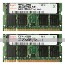 New Hynix 2GB 2x1GB PC2700S PC2700 DDR 333Mhz 200-Pin SoDimm Laptop Memory Modul