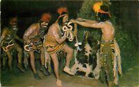 Std Chrome Postcard AZ D700 Smoki Snake Dancers Prescott Arizona Museum Ritual