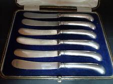 Art Deco Silver Butter Knives Elkington SHeffield 1919 16.7cm A667317