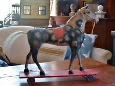 Antique Pull Toy Dapple Grey Horse