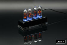 IN-14 NIXIE TUBE CLOCK ASSEMBLED ACRYLIC ENCLOSURE ADAPTER 4-tubes by MILLCLOCK