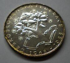 Czechoslovakia 1988 Silver 500 Korun Coin RARE KM#131 ** GEM UNC Mint Luster
