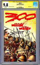 THE 300 #4 CGC-SS 9.8 SIGNED FRANK MILLER STORY COVER & ART WRAPAROUND CVR 1998