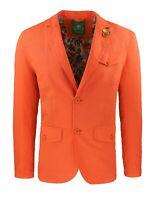 Giacca uomo in lino Classic arancio elegante 2 bottoni blazer man's Jacket
