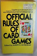 Official Rules of Card Games by A. H. Morehead (1983, Paperback)