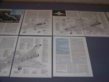 VINTAGE..JAS 39, RAFALE-A, IAI LAVI, EAP..3-VIEWS/CUTAWAY.RARE! (135F)