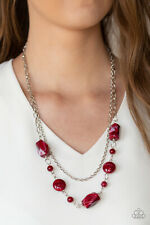 Colorfully Cosmopolitan Red Necklace By: Paparazzi