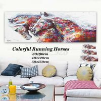 Running Horse Wall Painting Canvas Modern Abstract Art Unframed Home Decor /