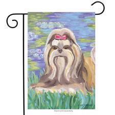"Bonet Shih Tzu Garden Flag Animals Toland Decorative Pet 12.5"" x 18"""