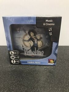 Asmodee- Timeline: Music and Cinema - Board/Card Game Family Frédéric Henry