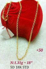GoldNMore: 18K Gold Necklace 18 inches Chain