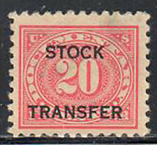 SC#RD6 - 20c - Documentary Stock Transfer Single Used Very Light Cancel
