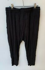 METALICUS Black NWT Women's Viscose Botanical Cropped Pant ONE SIZE $99.95