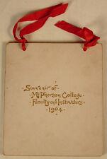 McPHERSON COLLEGE KANSAS 1904 SOUVENIR BOOK