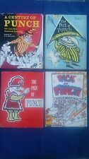 Bulk Lot Vintage Book THE PICK OF PUNCH + A CENTURY OF PUNCH Large Books x 4
