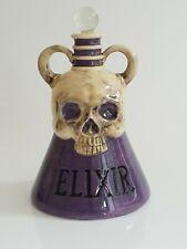Skull Elixir Magic Potion Purple Glass Bottle Gothic Style Halloween Party