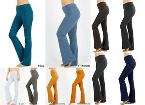 Women Plus Size High Waist Stretch Wide Flare Leg Bootcut Yoga Pants Leggings