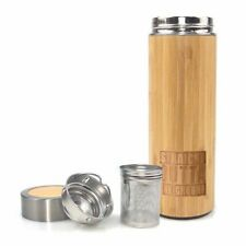 Thermoses Bamboo Vacuum Insulated Bottle - Tea Infuser & Strainer BPA Free