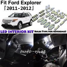 9x White LED Interior Lights Package Kit For 2011 2012 Ford Explorer