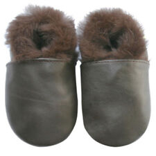 Freeship Littleoneshoes Leather Baby Kid Boy Girl ClassicBrownFur Shoes 30-36M