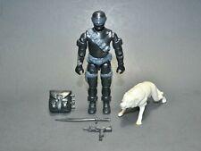 "GI Joe ARAH Snake Eye 1985 3.75"" 100% Complete w/Timber Hasbro Vintage Figure"